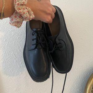 H&M Platform Oxford Shoe Black Size 8